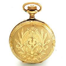 Antique Ladies Elgin Pendant Pocket Watch CA1907 7 Jewels 0 Size Hunter Case