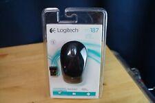 Logitech Wireless Mini Mouse M187 Pocket Sized Portable Mouse 910-002720 . BLACK