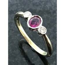 Diamond Jewellery 9ct Gold Ruby & Diamond Ring JH000075