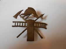 LOCAL  works fire brigade  early brass badge
