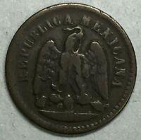 1889 Mo Mexico City Mint Mexico 1 Centavo Coin #SS785