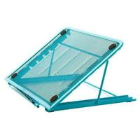 Foldable Desk Notebook Laptop Table Stand Laptop Holder Tray Cooling Rack Blue
