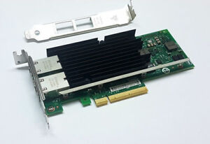 Intel X540-T2 10Gigabit 10GBe 10Gbit Dual Port Converged Server Adapter GbaseT