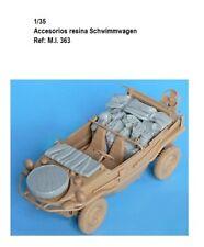 1/35 Resina SCHWIMMWAGEN accesorios Jeep estiba maqueta tanque kit WWII car