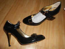 fabuleuses chaussures Juicy Couture cuir noir verni p38 US8 M neuf