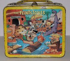 VINTAGE METAL LUNCHBOX W/METAL THERMOS 1964 THE FLINTSTONES