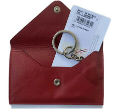 Salvatore Ferragamo Keyholder Keychain Fob Calf Leather Envelope Card Holder