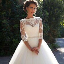 A-Line Tulle Bridal Gown Wedding dress custom size 4-6-8-10-12-14-16-18 custom