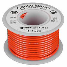 Consolidated Stranded 18 AWG Hook-Up Wire 25 ft. Orange UL R  sc 1 st  eBay : consolidated wiring - yogabreezes.com