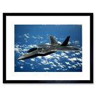 Military Air Plane Fighter Bomber Jet F-22 Raptor Framed Wall Art Print