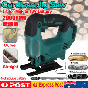 Cordless Wood Cutting Jigsaw Cutter Jig Saw Replace Body For 18V Makita Battery