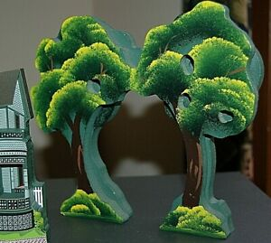 NEW Shelia Collectibles CHERRY TREES Shelf Sitter 1 piece=2 trees