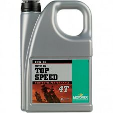 Motorex Top Speed 4T 15w/50 Synthetic Engine Oil 4 Litres KTM