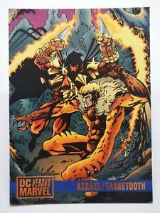 DC Comics 1995 B4 card versus marvel legends #52 Azrael & Sabretooth