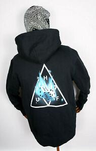 Huf Worldwide Sweatshirt Hooded Hoodie Hot Dice Triple Triangle Black in M