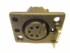 (2 pcs.) Deltron Female Chassis mount 5-pin Din plug Jacks  (NOS) #714-0500 NEW