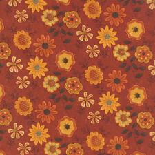 1 Half Metre Length Beauty Fall Floral Flower Fabric 100% cotton - 17882-16