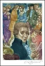 David Bekker Exlibris C4 Amadeus Mozart Music Violin Erotic Woman Tube Dance d90