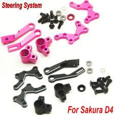 CNC Metal Adjustable Steering System for Racing Sakura D4 CS AWD RWD Drift Car
