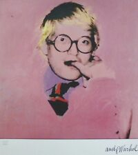 ANDY WARHOL portrait David Hockney B SIGNED HAND NUMBERED 2179/2400 LITHOGRAPH
