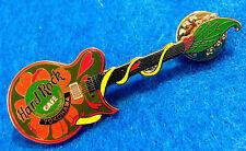 New listing Yokohama Japanese Valentines Day Orange Flower Guitar 2001 Hard Rock Cafe Pin Le
