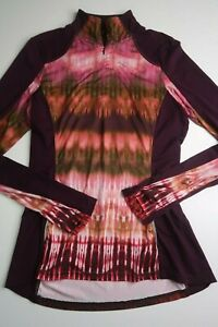 PRANA womens medium Sierra 1/4 Zip Performance Long Sleeve Top Shirt base layer