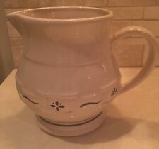 Longaberger Pottery Woven Traditions Classic Blue Small Juice Pitcher - USA