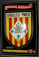 carte Kroma écusson ARGELES SUR MER 507 sticker blason autocollant collection