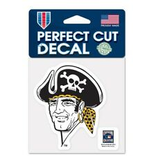 "Pittsburgh Pirates 4"" x 4"" Retro Logo Truck Car Auto Window Die Cut Decal NEW"