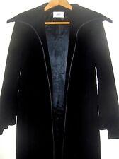 FENDI FENDISSIME LONG WOOL BLEND BLACK COAT ITALY 44