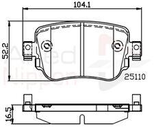 Allied Nippon Rear Brake Pad Set Fits Audi Seat Skoda VW UJD754