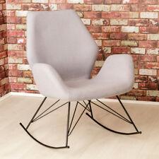 Bryce Designer Felt Rocking Chair / Unique Seat / Grey Modern Accent Chair / NEW