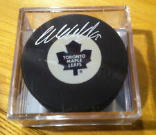 Wendel Clark NHL Autograph Puck Hockey Toronto Maple Leafs COA Signed Auto NEW