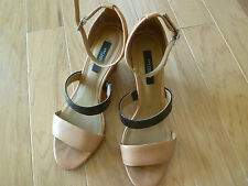 AnnTaylor Leather Ankle strap,  Wedge sandals Size 8.5 M