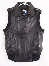 Fox Racing Black Biker Vest Zip Front Pocket Sleeveless Women's XS Extra Small
