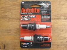 2 Autolite Spark Plugs Copper Core Resistor Automate 63 63DP2