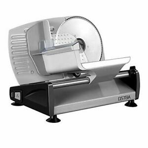 Meat Slicer Electric Deli Food Slicer with Child Lock Protection Removable Blade