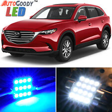 13 x Premium Blue LED Lights Interior Package Kit for 2007-2017 Mazda CX-9 +Tool