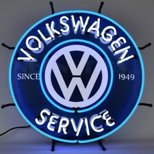 "Volkswagen VW Service Auto Neon Sign 24""x24"""