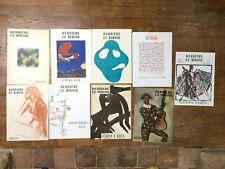 Lot 9 numéros Derrière le miroir, Chagall, Derain Jean Arp Arakawa Lithographies
