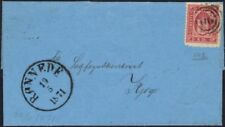 Numeral Cancellation Cover European Stamps