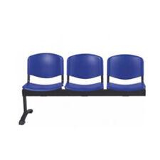panca per ufficio sala d'attesa seduta fissa in plastica da tre posti in studio