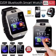 DZ09 Bluetooth Smart Watch Wrist Phone Mate Sports GSM SIM For IOS Android Phone
