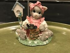 1996 You're My Feathered Friend Forever Calico Kittens Enesco No Box Birdhouse
