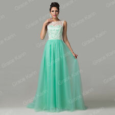 FREE CHEAP LONG Formal Evening Party Gown Bridesmaid Prom Wedding LACE Dresses