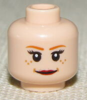 LEGO DUAL SIDED FLESH COLORED GIRL FEMALE MINIFIGURE HEAD SMILE FROM PEPPER POTS
