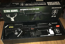 New listing ECHO 1 STAG ARMS AUTOMATIC ELECTRIC AIR-SOFT GUN JP-10 STAG-15 SERIES W/2 Clips