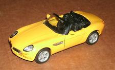 1/38 Scale BMW Z8 Roadster Diecast Model Car E52 Replica - Welly 9755 Yellow