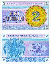 KAZAKHSTAN 2 Tyin Banknote World Paper Money UNC Currency Pick p-2c Bill Note
