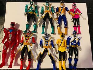 Power Rangers Samurai Action Figures Lot Of 8